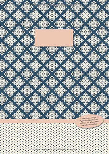 Heft Dotted Design •  Punktraster Notizbuch A4 • 96 Seiten mit Seitenzahlen und Inhaltsverzeichnis: Punktkariertes Papier im Softcover (Paperback) (Mondlicht Muster gepunktet, Band 2)