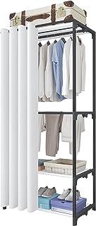 UDEAR Porte-vêtements Autoportant Armoire Penderie Organisateur de Vêtements avec Tringle à Vêtements, étagère de Rangemen...