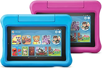 Fire 7 Kids Edition Tablet 2-Pack, 16 GB, Blue/Pink...