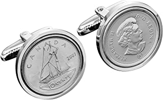 Canada Gift for Men-Genuine Canadian Coin Cufflinks- 100% Satisfaction Guarantee