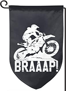 WOEflag Enduro Motocross Dirt Bike Braaap Premium Garden Flag, Home Yard Decorative Car Double Sided Garden Flags