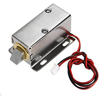 DC12V Lock Tongue Push Pull Trunk Luggage Electric Solenoid Lock Door Drawer