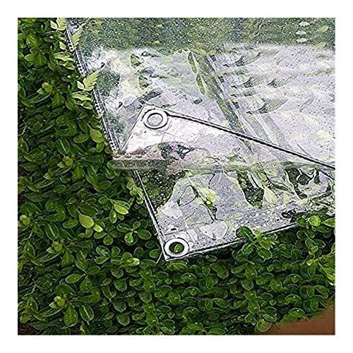 FINLR Claro Lona Impermeable Cortina de Altas Prestaciones Jardín Tela de Lona de PVC Engrosamiento de Cristal Ver a través Hoja Lona Cubierta de Tela Cubierta Vegetal (Color : Clear, Size : 2x3m)