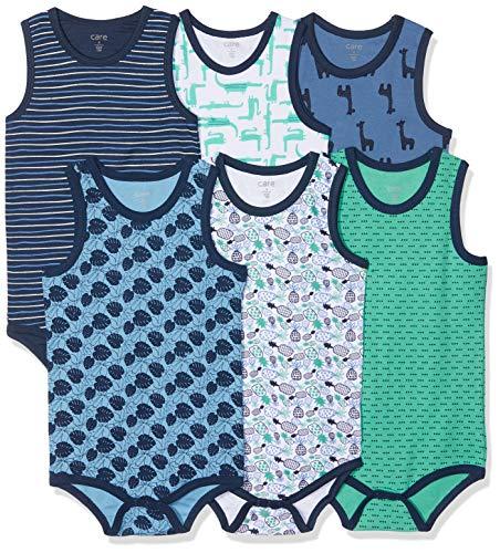 Care Baby - Jungen Achselbody im 6er Pack Blau (Dress Blues 772), Herstellergröße: 104