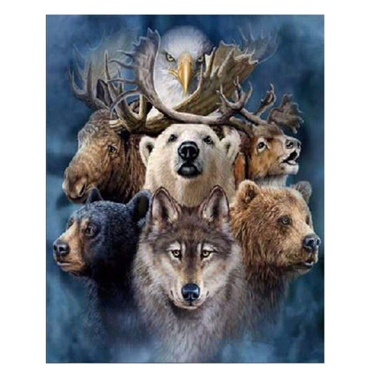 Full Drill DIY 5D Diamond Painting Animals Cross Stitch Kit Embroidery Art Decor