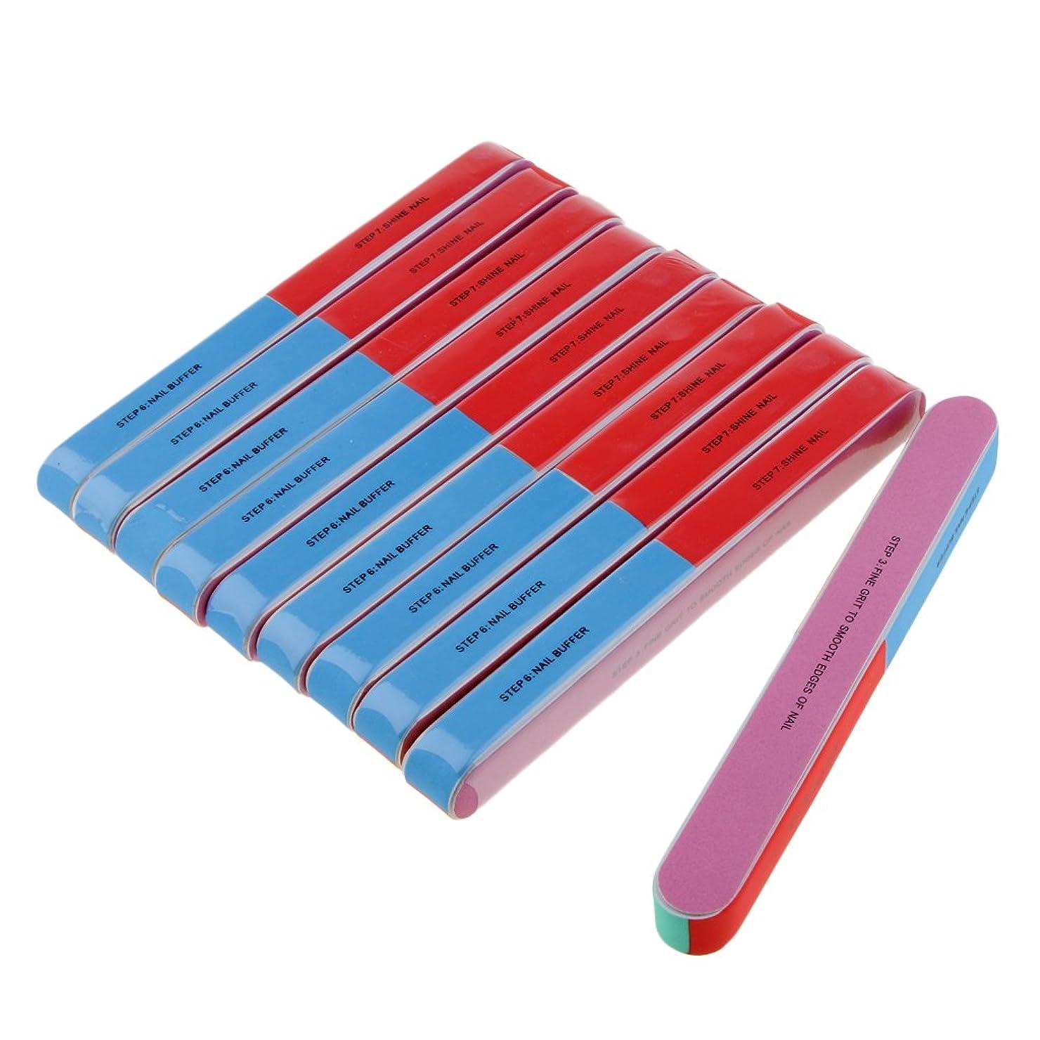 かまど継承転送Baosity ネイルファイル ネイルケア 爪やすり スポンジ ネイルサロン 自宅用 プロ 爪磨き 10本