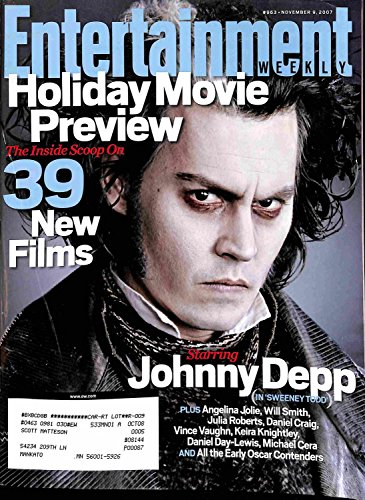 Entertainment Weekly November 9 2007 - Johnny Depp, 39 New Films, Holiday Movie Preview (#963)