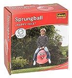 Idena 40093 - Sprungball Happy Face in rot