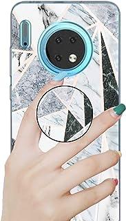 جراب رخامي رائع لهاتف Huawei Mate 30 Pro، جراب من السيليكون المطاطي المرن الناعم الناعم والرخام الملون فائق النحافة مع مسن...
