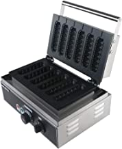 WantJoin Lolly Waffle Maker Commercial Iron Crispy Corn French Muffin Waffle Machine 110V/220V Crispy Machine Lolly Waffle Maker Hot Dog Crispy Stick Machine (Stainless Steel)