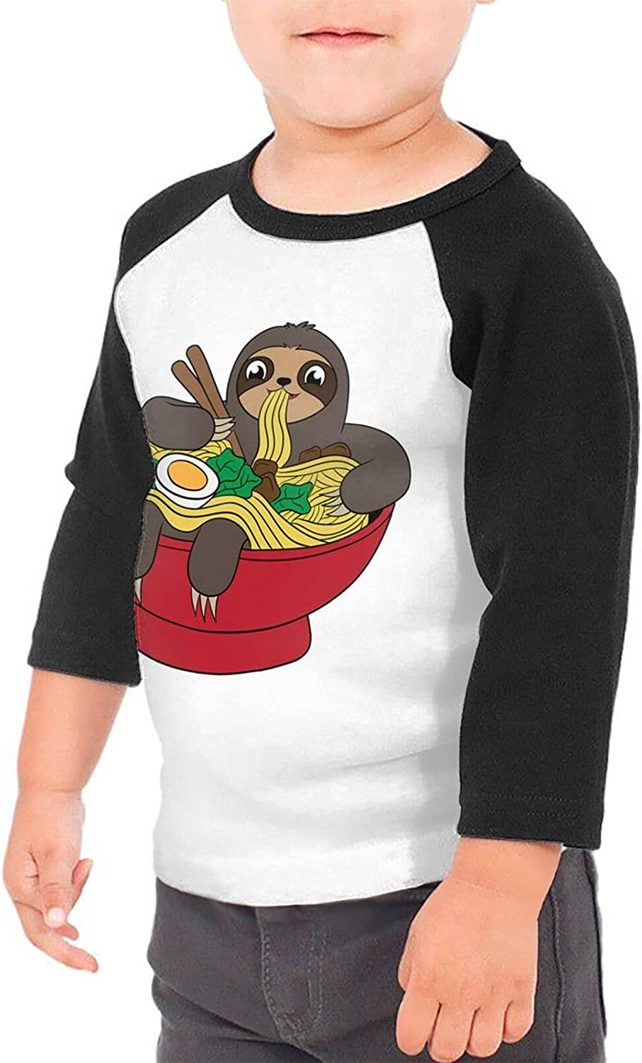 Sloth Ramen Noodles T-Shirts Novelty for Girls Tees with Cool Designs