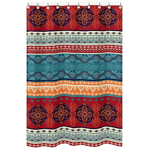 Boho Mandala Bohemian Chic Decorative Bathroom Fabric Bath...