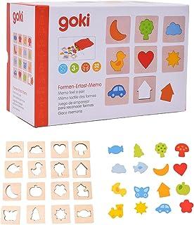 Goki- Feel-a-Pair Jeu de mémoire en Bois, 56968.0, Multicolore