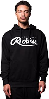 Big R Script Hoodie- Black/White - - Mens - Fleece - Hoodies -