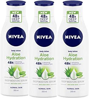 Nivea Aloe Hydration Body Lotion, 200 ml (Pack of 3)