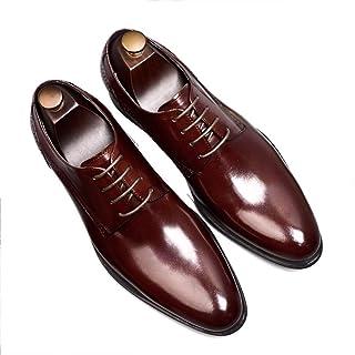 [HAPPYDAY] 大きいサイズ ビジネスシューズ メンズ 本革 革靴 黒 フォーマル ポインテッドトゥ 3E メンズシューズ ビジネス プレーントおしゃれ 紳士靴 結婚式 ブラック ワイン 軽量 防滑 通気性 24cm-28cm