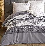 Leonado Vicenti - Juego de ropa de cama 100 % algodón Renforcé funda de almohada dormitorio juego de colores modernos...