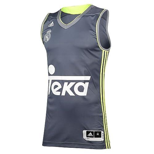 Adidas RM Camiseta Real Madrid de Baloncesto 2ª equipacion 2015-2016, Hombre, Blanco