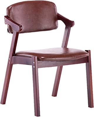 Balcony Office Chair, Comfortable Easy to Clean Reception Chairs Coffee Shop Restaurant Desk Chairs Living Room Kitchen Dining Chair(Color:#1)