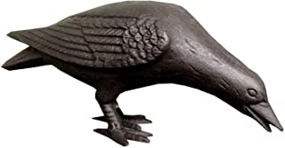 Primitive Large Life-Sized Decorative Black Cast Iron Raven Crow Bird Head Down