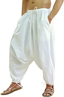 Men's Cotton Harem Yoga Baggy Genie Boho Pants