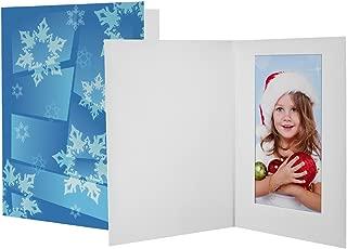 Neil Enterprises 4x6 Winter Snowflake Photo Folders - 100 Pack