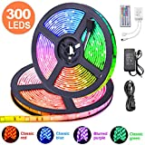 10m LED Ruban 5050 RGB 300 leds IP65 Étanche, ESEYE Kit Bande LED TV Rétroéclairage RGB 2.4W/m Flexible Multicolore...