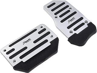 Vosarea Non Slip Automatic Car Treadle Accelerator Brake Pedal Cover Footrests Set 2pcs (Silver)