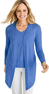 Chico's Women's Cotton Slub Long Sleeve Cardigan