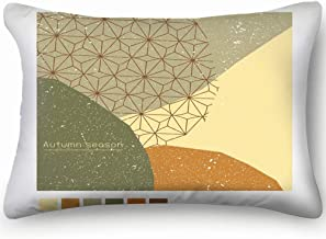 Autumn Poster Banner Greeting Card Template Cover Abstract Green Skin Cool Super Soft and Luxury Pillow Cases Covers Sofa Bed Throw Pillow Cover with Envelope Closure 1624 Inch
