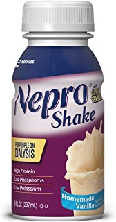 Nepro Therapeutic Nutrition Shake, Vanilla, 8 Ounce (Pack of 16)