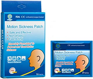 KONGDY 10 Counts Motion Sickness Patches for Cruise Kids, Natural Sea Sickness Patch Behind Ear, Anti Nausea Patches with ...
