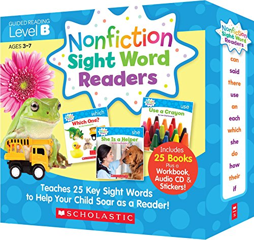 Scholastic Nonfiction Sight Word Readers レベル B 英語教材 25冊セット CD付