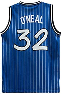 Men's O'Neal Jersey Sports #32 Jerseys Shaquille Basketball Blue White and Black Jersey(S-XXL)