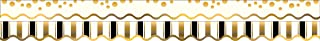 Barker Creek - Office Products Double-Sided Bulletin Board Border Scalloped Edge, Gold Coins, 39' (LL-903)