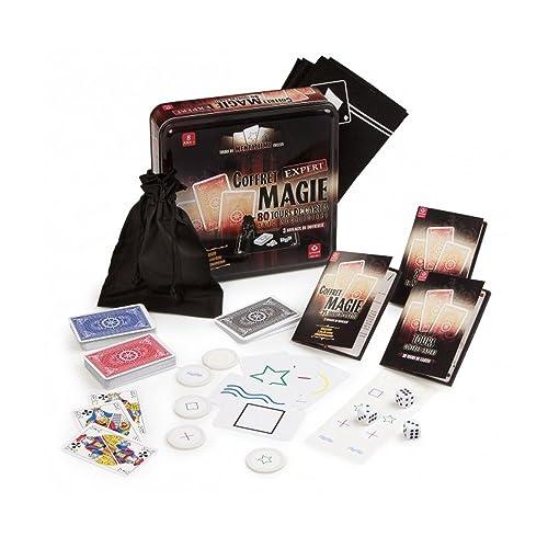 Cartamundi Coffret expert magie de 80 tours de cartes avec accessoires, tours de mentalisme inclus.