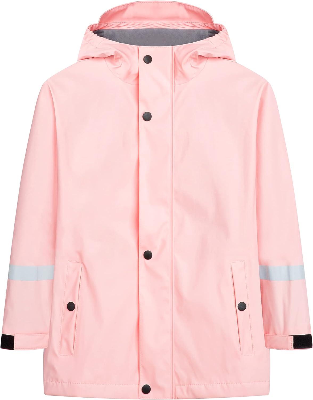 M2C Boys Max 59% OFF Girls Hooded High quality new Waterproof Jacket with Lining Fleece Rain