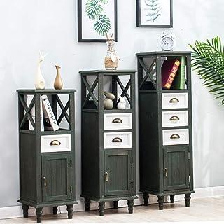 KHFJ Armoire de Rangement Narrow Gap Armoire de Toilette Locker Petit Appartement Coin Cabinet en Bois Massif Armoire de R...