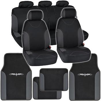 Nylon Carpet Coverking Custom Fit Front and Rear Floor Mats for Select Audi A6 Models CFMBX1AU7085 Black