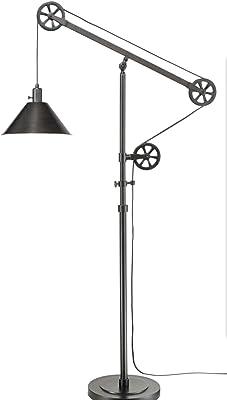 Adesso 6280 22 Brisbane 63 84 Arc Lamp Satin Steel Smart