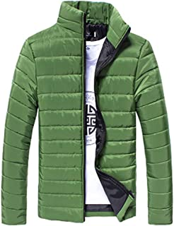 KIZOOM Men's Packable Stand Collar Lightweight Down Puffer Jacket Warm Stand Collar Slim Winter Zip Coat Outwear