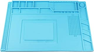 featured product Heat Insulation Silicone Repair Mat, Large Silicone Repair Mat for Soldering Iron, Phone and Computer Repair, Heat Gun, Electronics Repair Disassembly (17.79''11.69'') - Blue