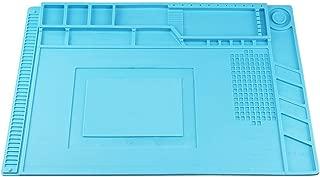 Heat Insulation Silicone Repair Mat, Large Silicone Repair Mat for Soldering Iron, Phone and Computer Repair, Heat Gun, Electronics Repair Disassembly (17.79''×11.69'') - Blue