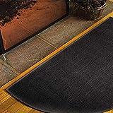 Huaxingda Manta ignífuga, alfombra para chimenea, tejido ignífugo, alfombra para chimenea, semicircular, multicapa, utilizada para la protección del suelo de estufas y chimeneas