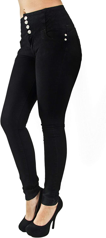 Plus Junior Size Butt Lift High Elastic Waist Skinny Women Denim Jeans
