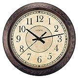 LaCrosse 404-2635 Analog Wall Clock, 14', Rustic Brown