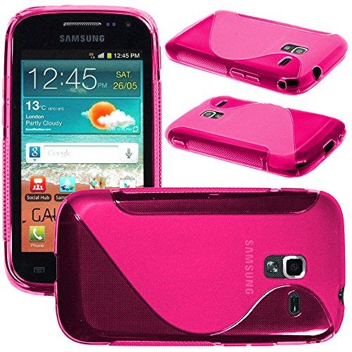 ebestStar - Cover Compatibile con Samsung Ace 2 Galaxy i8160, S7560M Custodia Protezione S-Line Design Silicone Gel TPU Morbida e Sottile, Rosa [Apparecchio: 118.3 x 62.2 x 10.5mm, 3.8'']