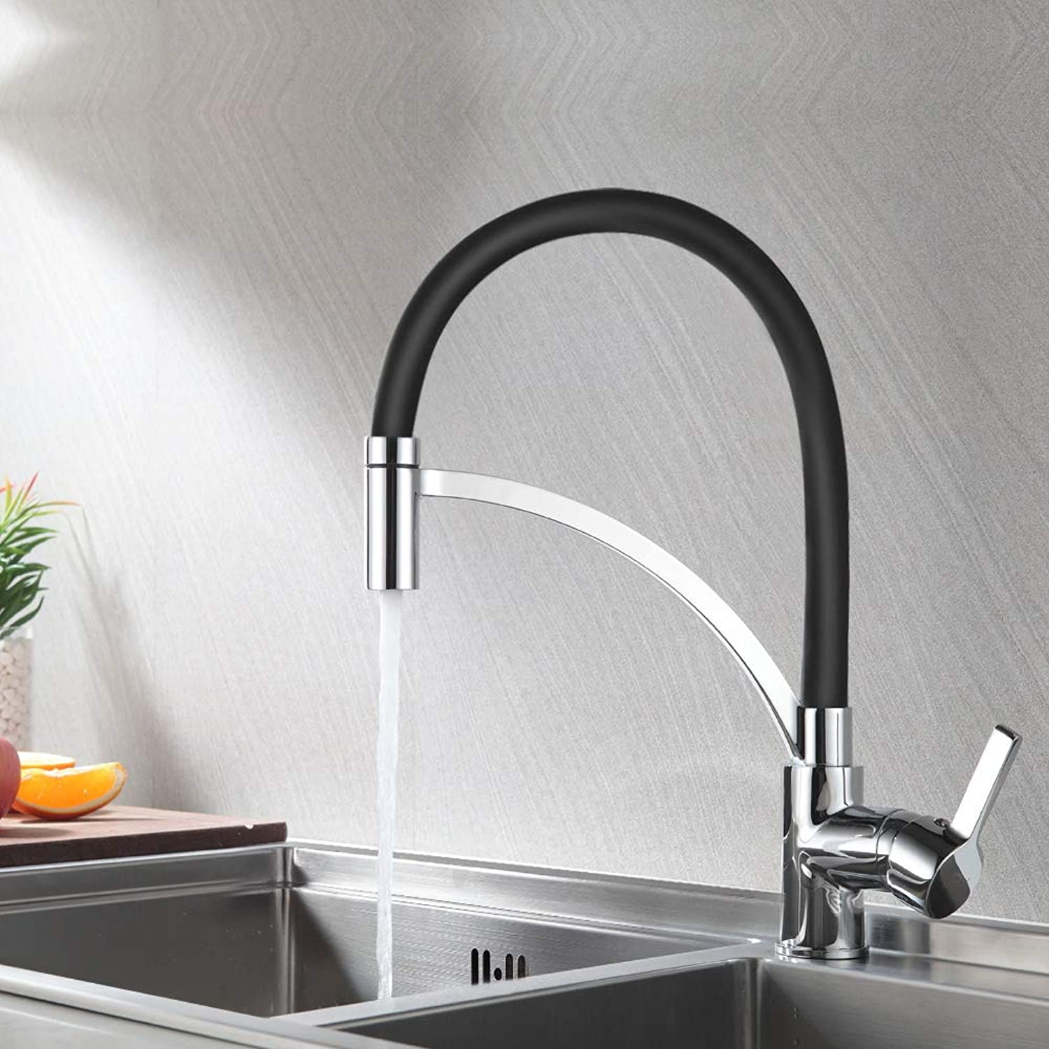 Auralum Kitchen Single-Lever Mixer Tap with Pivoting Spout Mixer Tap Single Lever Kitchen Sink Mixer Tap