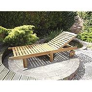 Kent Wooden Garden Sun Lounger