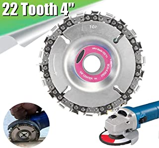 Angle Grinder Blade Chain Disc Circular Saw Blade 4inch Wood Carving Disc Grinder Chain Plate 22 Fine Tooth Grinder Disc Sanding Disc for 100/115 mm Angle Grinder